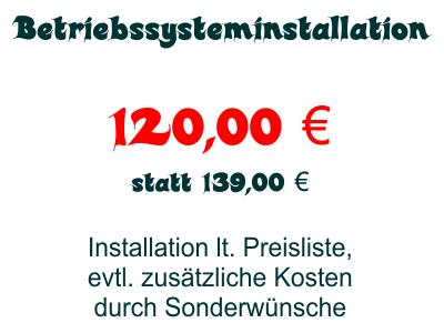 Dienstleistung: Betriebssysteminstallation