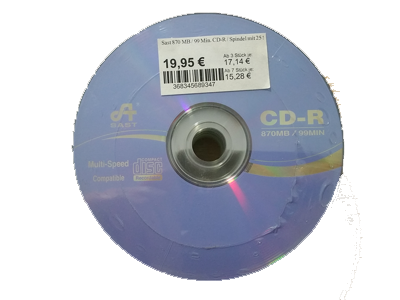 870 MB CD-R / 25er Spindel